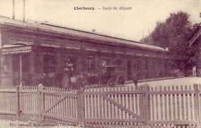 CPA 50 Normandie Manche CHERBOURG Gare deDépart Voyageurs Attelage Maison RATTI