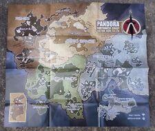 "Borderlands 2 Pandora Map Poster 22"" x 19"" - BRAND NEW"