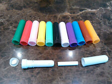 15sets blank nasal inhaler 4part 11colors