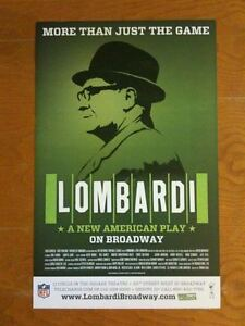 Vince LOMBARDI Window Card Poster NFL GREEN BAY PACKERS -- MINT