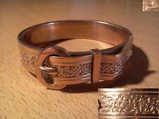 ancien bracelet en forme de ceinture plaqué or art déco début XX ème