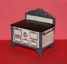PORCELAIN STOVE-White- Dollhouse Miniature Kitchen Furniture 1/12 Scale GERMANY