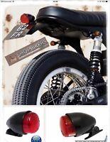 Faro Fanale Luce posteriore Texas Nero per moto universale Harley Custom Bobber
