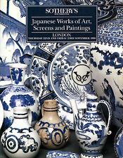 SOTHEBY'S JAPANESE WORKS OF ART, SCREENS & PAINTINGS London 22-23 November 1990