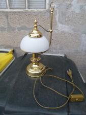 Lamp desk salon chevet bureau laiton lampe style train ideal deco chemin de fer