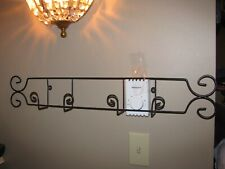 Plate Rack, Wall Mount, Display Rack, Plate Holder, 2 plate, Wrought Iron, Black