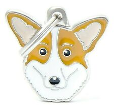 Corgi Dog ID Tag (66) - Engraved FREE - Personalised - Charm - Keyring
