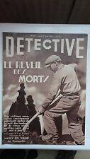REVUE DETECTIVE N°493 PREMELIN GRANDLIEU DEPT 44 SEGOYER 1938 TBE !
