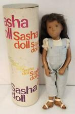 """Sasha Doll Gregor Vintage Original Tube Jean Overalls Brunette 16"""" England Made"""