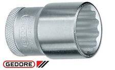 "Gedore Socket 7/8"" bi-hexagon UD profile Vanadium Steel Nickel-Chrome Plated"