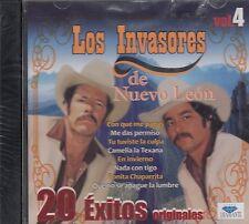 Los Invasores De Nuevo Leon 20 Exitos Originales Vol. 4 CD New Nuevo Sealed
