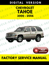 Chevrolet Chevy Tahoe 2000-2006 Service Repair Workshop Manual