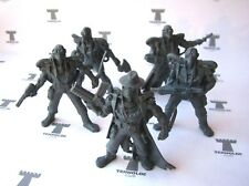 Necrozombies - 5 Figures Sci-Fi 54 mm Soft plastic Tehnolog Russian Toy Soldiers