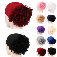 Flower Hat Women Bonnet Turban Muslim Hair Loss Chemo Cap Hijab Head Scarf Wrap