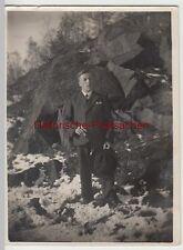 (F4915) Orig. Foto junger Mann Erich Hoffman a. Seidenberg O.L. mit Zigarre am F