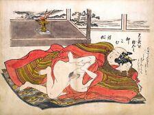 Repro Japanese Woodblock 'Shunga Style' Print - #015