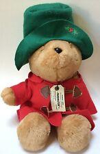 Vintage Sears Christmas Paddington Bear Stuffed Animal Plush With Train Tag Cute