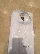 T.M Lewin Men's White Long Sleeve Shirt UK 17.5