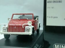 WOW EXTREMELY RARE VW 181 Kubelwagen Cabriolet Fire Neuwied 1969 1:43 Minichamps