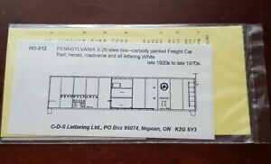 C-D-S Lettering PENNSYLVANIA RR X-29 Steel Boxcar HO Decals HO-312