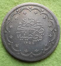 Türkisch Osmanisches Reich 1854 20 Kurush Kurus Piaster, Abdul Mejed, Silber, ss