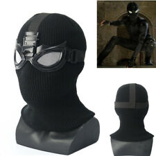 US!Spider-Man Far From Home Stealth Suit  Halloween Full Knit Mask Cosplay Props
