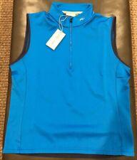 NWTs KJUS Mens Diamond Fleece Golf Vest. 52 EU/Large. Palau Blue (retail $169)