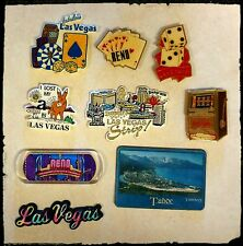 Refrigerator Magnet Lot of 9! Las Vegas, Reno, Lake Tahoe, Gambling, Strip, Fun!