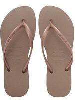 Havaianas Slim Brazil Women's Flip Flops Rose Gold Size US-7/8 EUR-39/40