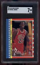 1987-88 Fleer Stickers #2 Michael Jordan SGC 7 4463184