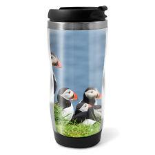 Puffins on Mykines Travel Mug Flask - 330ml Coffee Tea Kids Car Gift #16953