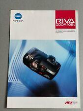 Minolta Riva Zoom 105i 35mm Camera, A4 Paper Brochure, 10 Pages, 1991