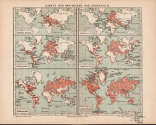 Antique map. HISTORIC MAP. HISTORY OF THE WORLD. II. Circa 1905