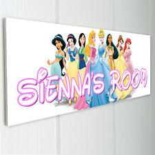 DISNEY PRINCESSES Personalised Door Sign Plaque Kids Bedroom Daughter Niece Sis