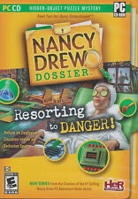 Nancy Drew Dossier RESORTING TO DANGER Hidden Object Puzzle Mystery PC Game NEW