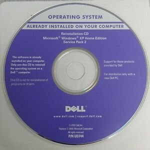 NEW DELL Microsoft Windows XP Home Edition Pack 2 Reinstallation Disc P/N UD744