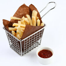 Wire French Fry Basket,Mini Food Serving Basket,Stainless steel Chips Cone F0054