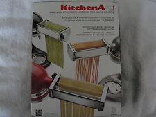 KitchenAid 3 Piece Pasta, Fettuccine, Spaghetti Roller and Cutter Set-NEW IN BOX