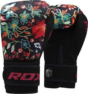RDX Ladies Boxing Gloves Kickboxing Punching Women MMA Fighting Muay Thai 12 oz.