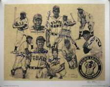 Willie Mays Etc Hand Signed By 6 Jsa Autograph 20x25 Photo Litho Hand Signed