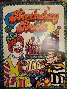 "1983 ""BIRTHDAY BOOK"" VINTAGE BIRTHDAY FUN BOOK by McDONALD'S !!"