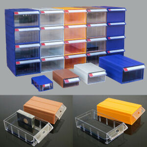 Plastic Component Storage Box Drawer Type Parts Organizer Toolbox Stackable