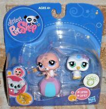 Littlest Pet Shop girl lavender PENGUIN pink SEAL 1526 1527 circus ball HTF 2009