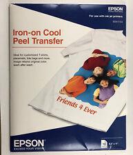New Listingepson Iron On Cool Peel Transfer Paper 850 X 11 10 Sheets B1