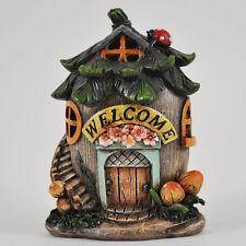 Mystical Fallen Nut House Garden Ornament LED LIGHT Woodland Elf Pixie 39205