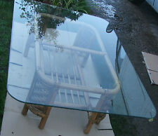 Bamboo rattan table glass top Coffee table Conservatory table, A+ QUALITY BAMBOO