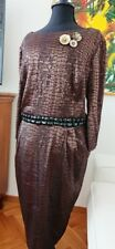 Plus Size animal print Alex Evenings Dress size 24W with beaded waist detailing
