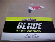 BLADE HELICOPTER PART - ELFH3020R - VERTICAL FIN  - RED : BMSR   (NEW)