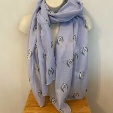 More details for bearded collie dog print ladies scarf new design shawl beardie gift