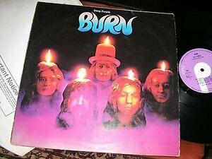 DEEP PURPLE -    Burn,     RARE ORIGINAL 1974 UK FIRST PRESS LP..... DECENT COPY